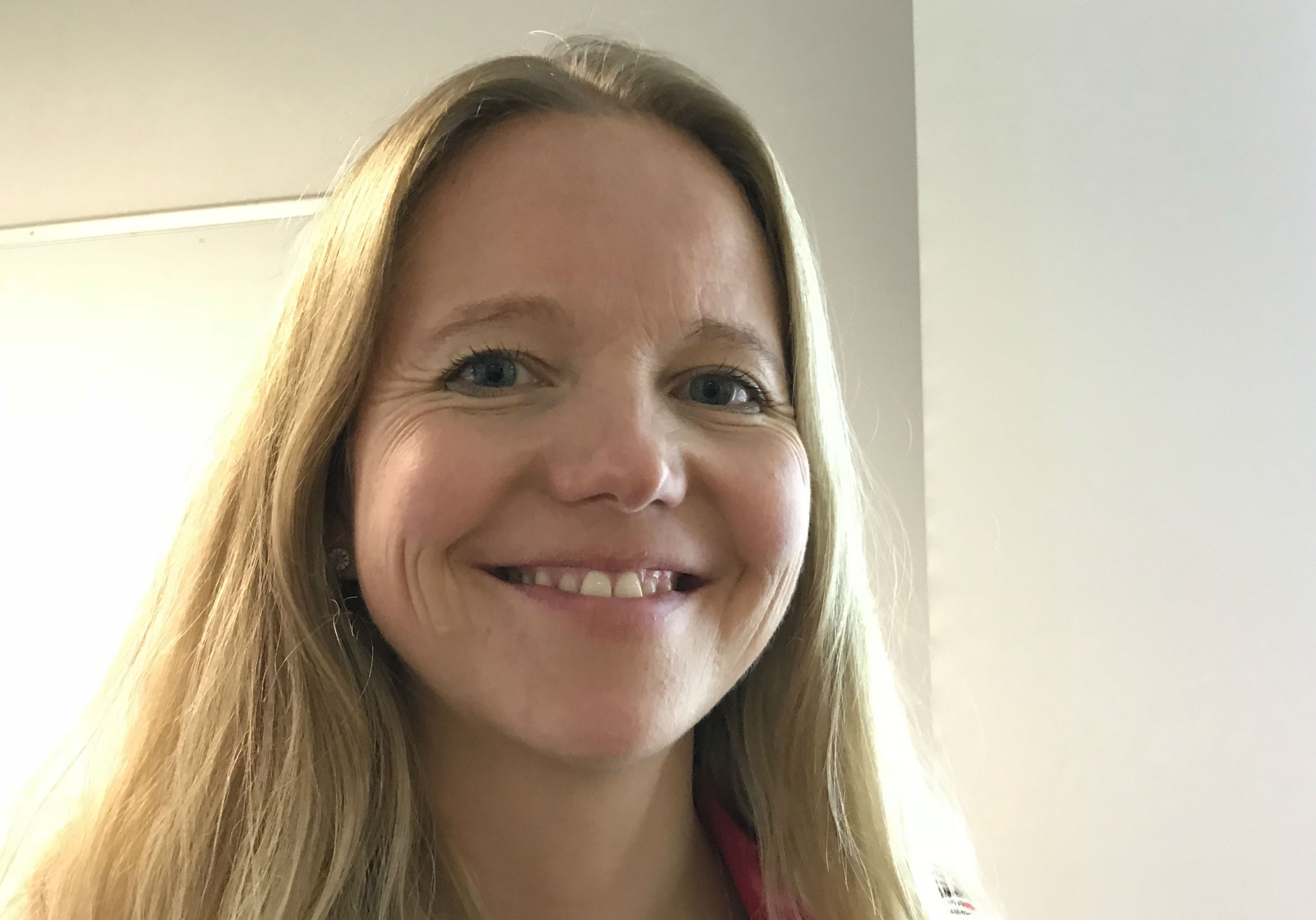 Anita Christensen efter veloverstået workshop på DDE-konferencen.